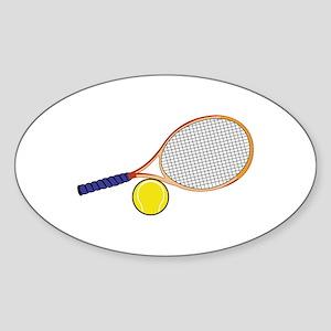 Tennis Racquet and Ball Sticker