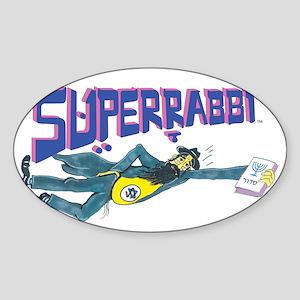 Superrabbiwhihrte Sticker (Oval)