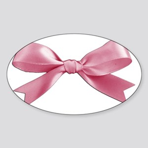 Pink Bow Sticker (Oval)