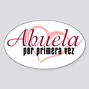 Abuela, Pink Oval Sticker
