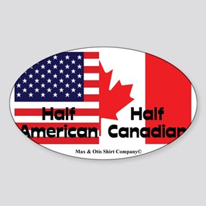 american-canadian-flag Sticker (Oval)
