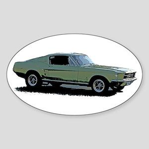 67 Mustang 4 Sticker (Oval)