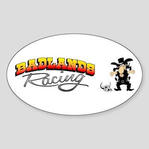 Badlands Racing Oval Sticker