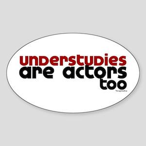 Understudies Oval Sticker
