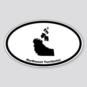 Northwest Territories Canada Outlin Oval Sticker