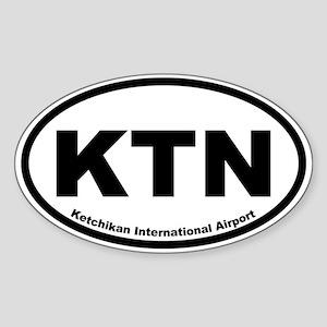 Ketchikan International Airport Oval Sticker