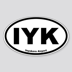 Inyokern Airport Oval Sticker
