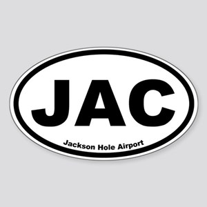 Jackson Hole Airport Oval Sticker