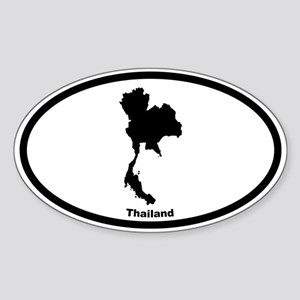 Thailand Outline Oval Sticker