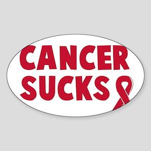 Cancer Sucks Oval Sticker