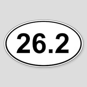 Marathon 26.2 White Oval Sticker