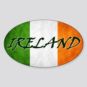 irish_flag_banner_4w Sticker (Oval)