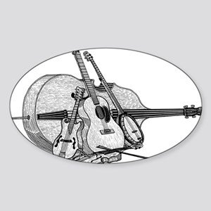 Bluegrass-2 Sticker (Oval)