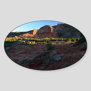 Morning Light at Palo Duro Sticker (Oval)