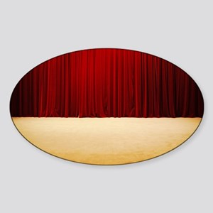 Theater stage curtains Sticker (Oval)