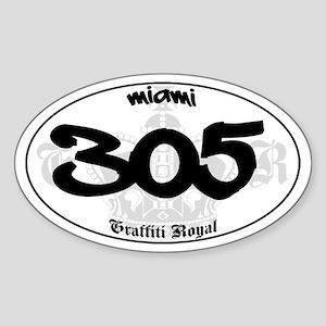 """""""MIAMI 305"""" Graffiti Oval Sticker"""