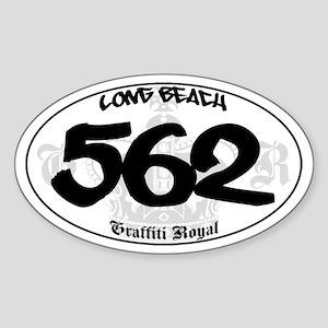 """LONG BEACH 562"" Graffiti Oval Sticker"