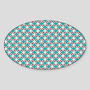 Mid Century Modern Retro Mod Overla Sticker (Oval)