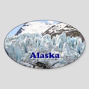 Alaska: Portage Glacier, USA Sticker (Oval)