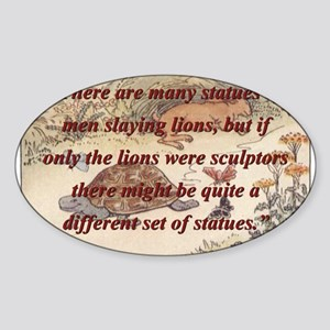 There Are Many Statues Of Men - Aesop Sticker (Ova