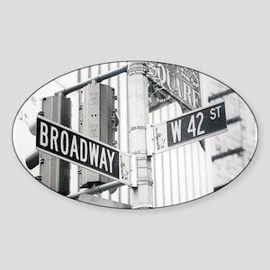 NY Broadway Times Square - Sticker (Oval)