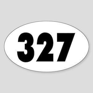 327 Sticker (Oval)
