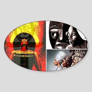 Strong African Women Sticker (Oval)