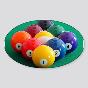 9 Ball Rack Oval Sticker