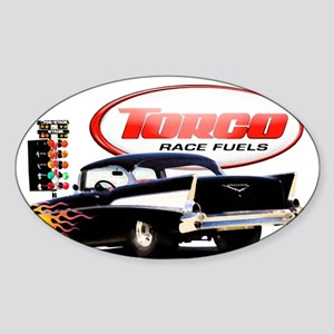 57 Chevy Dragster Sticker (Oval)
