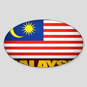 Malay (Laptop Skin) Sticker (Oval)