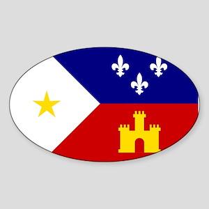 Flag of Acadiana Louisiana Sticker