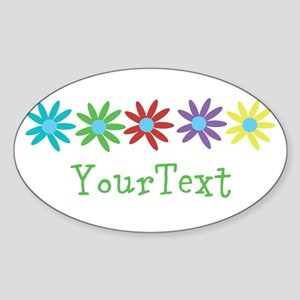Personalize Flowers Sticker