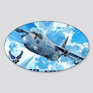 Air Force AC-130 Spectre Sticker (Oval)