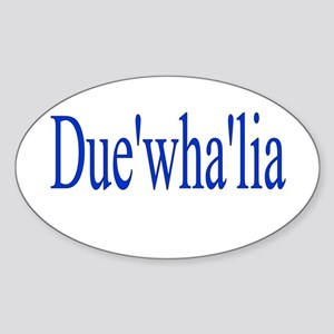 Duewhalia Sticker (Oval)