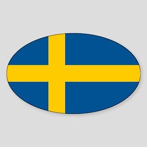 Sweden Sticker (Oval)