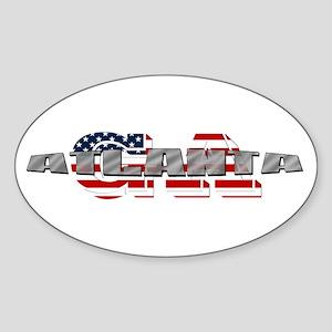 Atlanta GA Sticker (Oval)