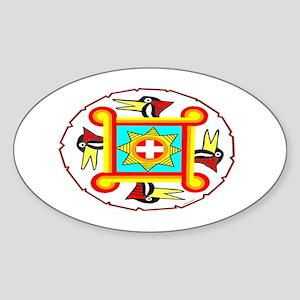 SOUTHEAST INDIAN DESIGN Sticker (Oval)