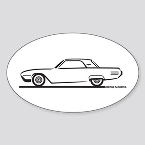 1961 Ford Thunderbird Hardtop Oval Sticker