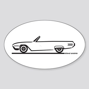 1961 Ford Thunderbird Convertible Oval Sticker