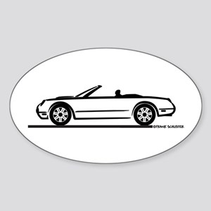 02 05 Ford Thunderbird Convertible Oval Sticker