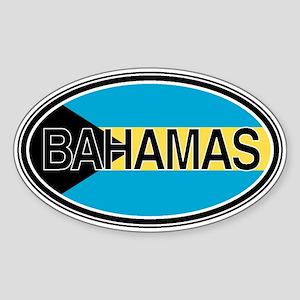 Bahamas Euro Oval Full Text Sticker