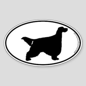 Gordon Setter SILHOUETTE Oval Sticker