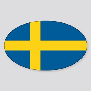 Swedish Flag Sticker (Oval)