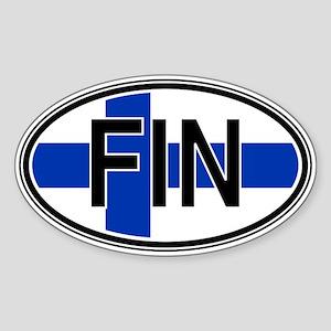 Finland Euro Oval Sticker