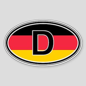 Germany Euro Oval Sticker