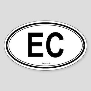 Ecuador (EC) euro Oval Sticker