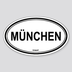 München, Germany euro Oval Sticker
