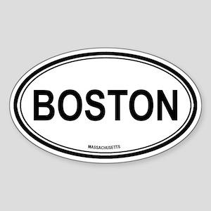 Boston (Massachusetts) Oval Sticker
