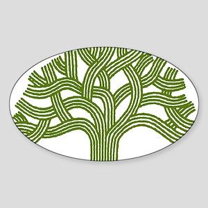 Oakland Oak Tree Oval Sticker