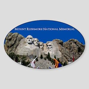 Customizable Mt Rushmore Avenue of Flags Sticker (